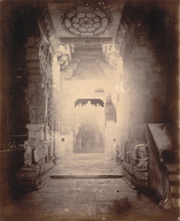 Interior view of entrance of the Situ Madhavaswami Temple, Rameswaram